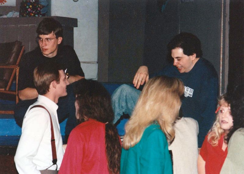 Opening night for The Boys Next Door at ECU, spring of 1993