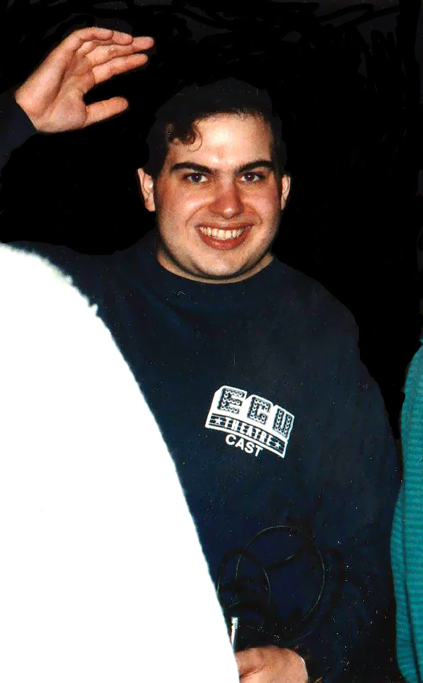 Opening night of The Boys Next Door at ECU, 1993